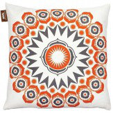 Mini Moderns Darjeeling  Cushion Tangerine Dream