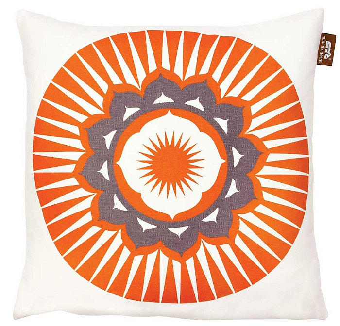 Mini Moderns Darjeeling  Cushion Tangerine Dream - Product code: DARJEELING TANG