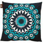 Mini Moderns Darjeeling  Cushion Indigo - Product code: DARJEELING INDIGO