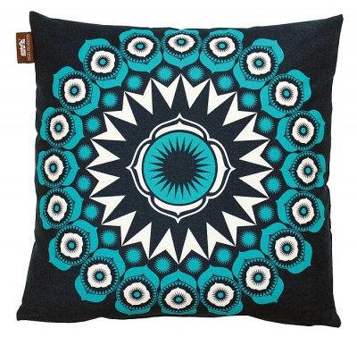 Image of Mini Moderns Cushions Darjeeling Cushion, DARJEELING INDIGO