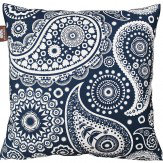 Mini Moderns Paisley Crescent Cushion Indigo  - Product code: PAISLEY CRESCENT
