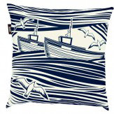 Mini Moderns Whitby  Cushion  Indigo