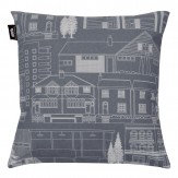 Mini Moderns Town Cushion Dark Grey