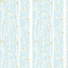 Laura Ashley Cottonwood  Duck Egg Wallpaper