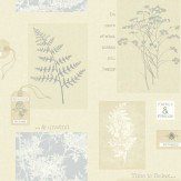 Arthouse Foliage Soft Blue Wallpaper