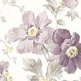 Laura Ashley Peony Garden  Amethyst Wallpaper