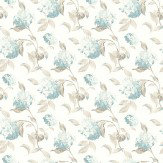 Laura Ashley Hydrangea  Duck Egg Wallpaper