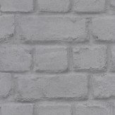Albany Metallic Steel Brick Metallic Steel Grey Wallpaper