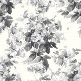House Of Hackney London Rose  Smoke Grey Wallpaper