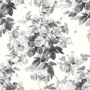 Image of House Of Hackney Wallpapers London Rose Smoke Grey, HOH006N