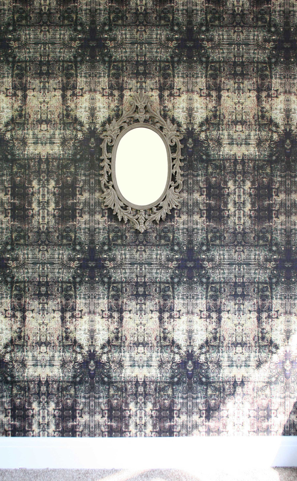 Kandola Tapestry Moss Dark Grey Wallpaper - Product code: DW1590/01
