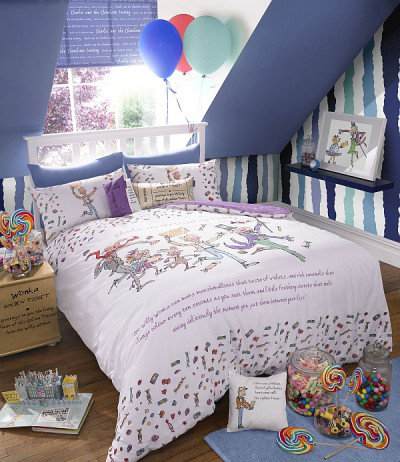 Image of Roald Dahl Duvet covers Charlie & The Chocolate Factory Single Duvet Set, 451005
