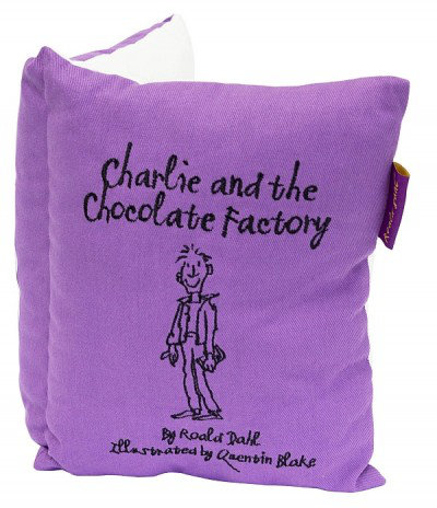 Image of Roald Dahl Cushions Charlie & The Chocolate Factory Book Cushion, 451020
