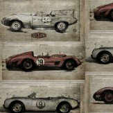 Sidney Paul & Co Racer Grey / Red Wallpaper - Product code: SPW0010-01