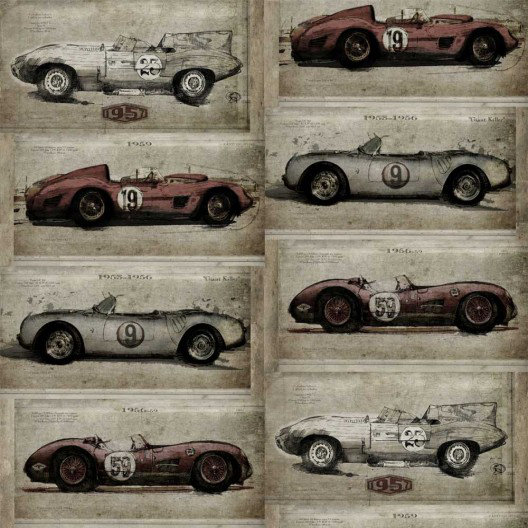 Image of Sidney Paul & Co Wallpapers Racer Grey, SPW0010-01