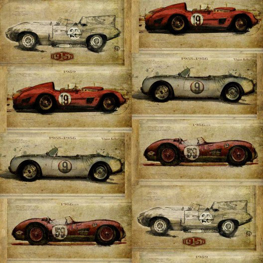 Image of Sidney Paul & Co Wallpapers Racer Antique, SPW0010-02