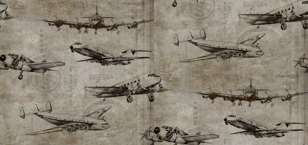 Image of Sidney Paul & Co Wallpapers Flight Taupe, SPW0014-01