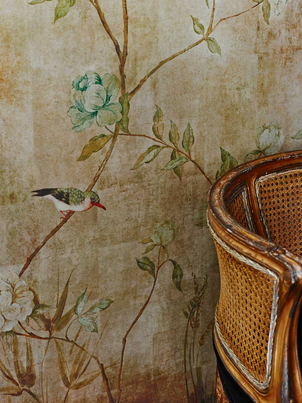 Chinoiserie by sidney paul co gold wallpaper direct for Chinoiserie mural wallpaper