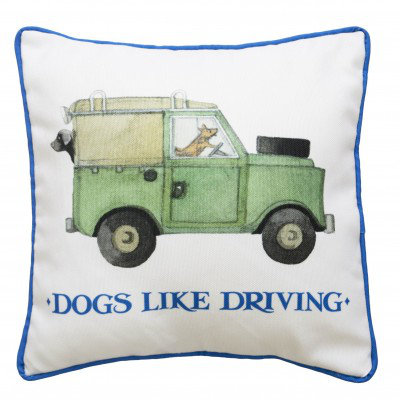 Image of Emma Bridgewater Cushions Emma Bridgewater Dogs like Driving cushion, 369015