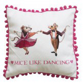 Emma Bridgewater Emma Bridgewater Mice Like Dancing cushion Pink