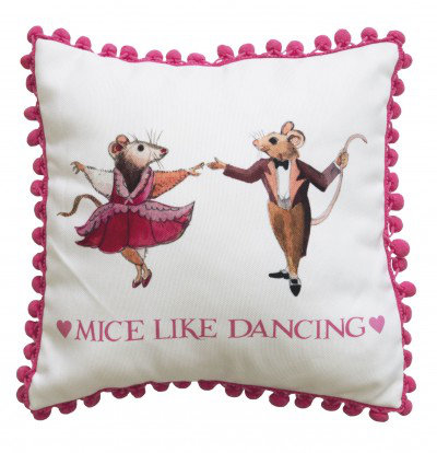 Image of Emma Bridgewater Cushions Emma Bridgewater Mice Like Dancing cushion, 363015