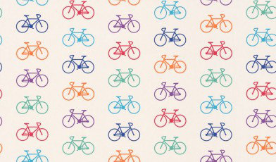 Image of Ginger & French Wallpapers Bicycle Multi, WP01