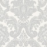 Coordonne Equus White/Silver Wallpaper