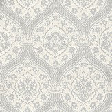 Coordonne Otoman White/Silver Soft Ivory / Silver Wallpaper - Product code: 252 C02