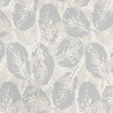 Coordonne Glace Silver Silver Grey / Cream  Wallpaper