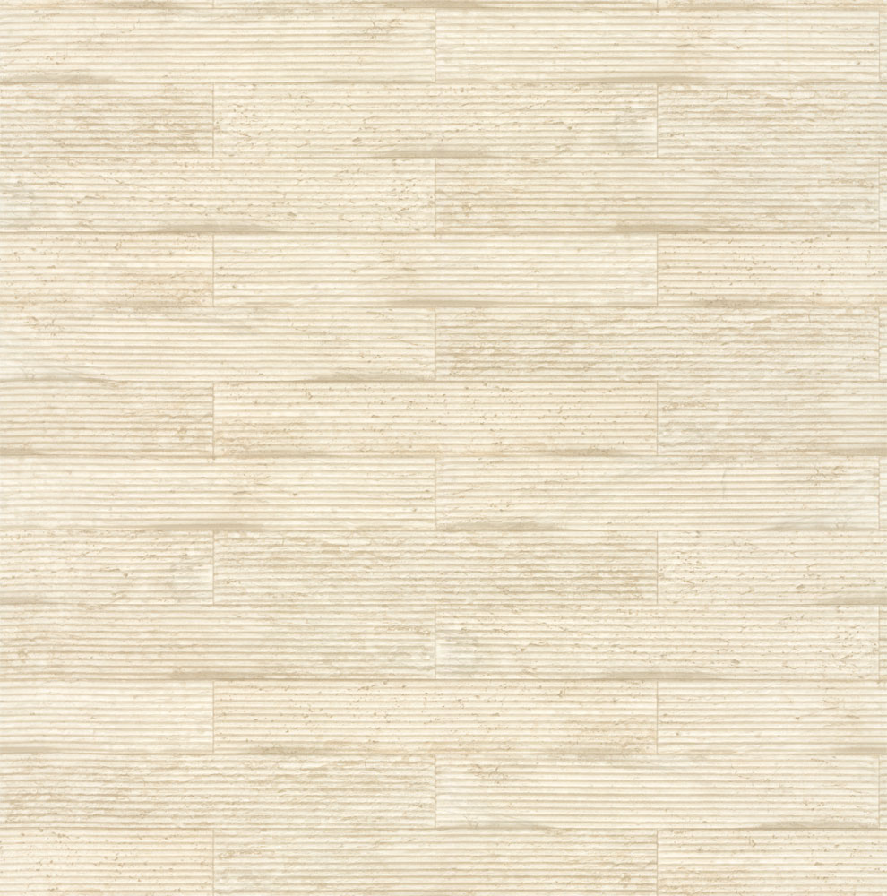 Albany Wooden Tile Cream Wallpaper main image