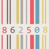 Albany Barcode Motif Stripe Multi Wallpaper