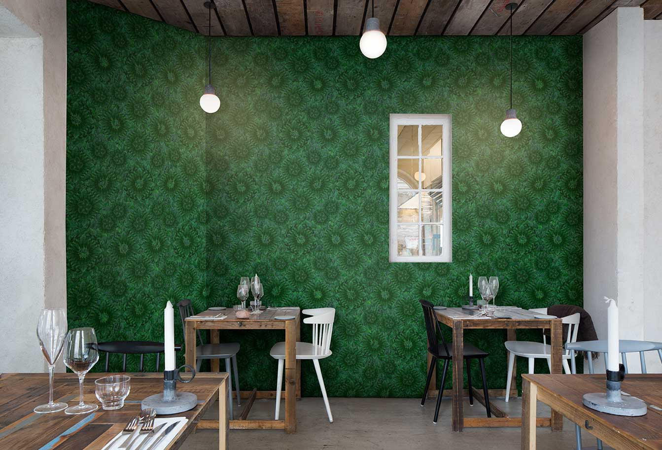 Go green by mr perswall wallpaper direct for Mural go green