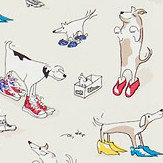 Sanderson Dogs in Clogs  Rainbow Brights Fabric - Product code: 223907