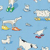Sanderson Dogs in Clogs  Blue Fabric - Product code: 223909