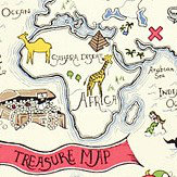Sanderson Treasure Map Vanilla Fabric