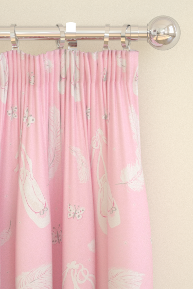 Sanderson Ballet Shoes Pink Curtains