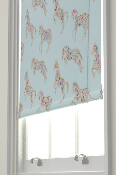 Sanderson Pretty Ponies  Chintz/ Blue Blind