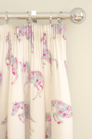 Sanderson Pretty Ponies  Pink/ Sky Curtains - Product code: 233926