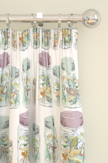 Louise Body Jars Fabric White / Multi Curtains - Product code: JARS