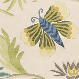 Thibaut Lizette Navy and Cream Blue / Green / Cream Wallpaper - Product code: T36100