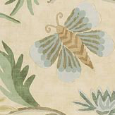 Thibaut Lizette Neutral Gold / Green / Beige Wallpaper - Product code: T36103
