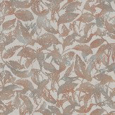 Casamance Profusion Red Grey / Red Wallpaper