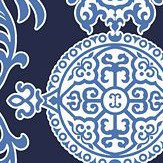 Thibaut Halie Navy Blue Wallpaper