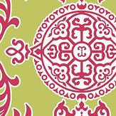 Thibaut Halie Green and Raspberry Green / Pink Wallpaper - Product code: T36112
