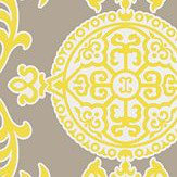 Thibaut Halie Grey and Lemon Yellow / Grey Wallpaper - Product code: T36115