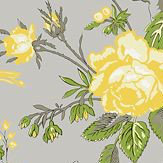 Thibaut Nemour Grey Grey / Yellow / Green Wallpaper - Product code: T36128