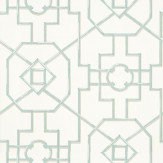 Thibaut Bamboo Lattice Aqua Wallpaper - Product code: T36154