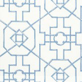 Thibaut Bamboo Lattice Blue Wallpaper - Product code: T36158