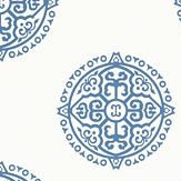 Thibaut Halie Circle Blue Wallpaper - Product code: T36170