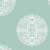 Thibaut Halie Circle Aqua Wallpaper - Product code: T36172